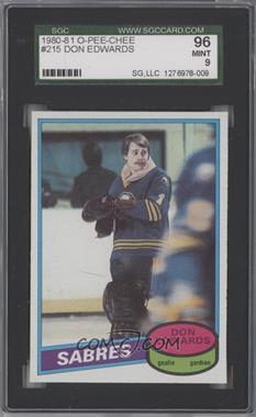 1980-81 O-Pee-Chee - [Base] #215 - Don Edwards [SGC96]