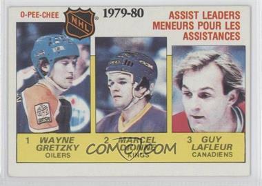 1980-81 O-Pee-Chee #162 - NHL Assist Leaders (Wayne Gretzky, Marcel Dionne, Guy Lafleur)