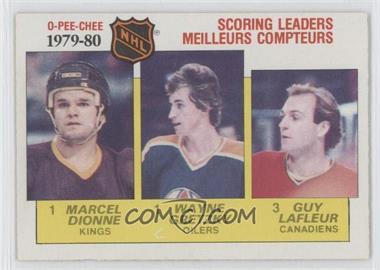 1980-81 O-Pee-Chee #163 - NHL Scoring Leaders (Marcel Dionne, Wayne Gretzky, Guy Lafleur)