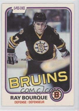 1981-82 O-Pee-Chee - [Base] #1 - Ray Bourque