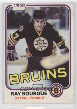 1981-82 O-Pee-Chee #1 - Ray Bourque