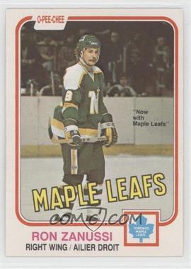 1981-82 O-Pee-Chee #325 - Ron Zanussi