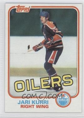 1981-82 Topps #18 - Jari Kurri