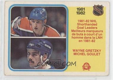 1982-83 O-Pee-Chee #237 - Wayne Gretzky, Michel Goulet