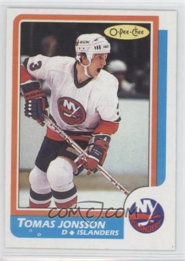 1986-87 O-Pee-Chee - [Base] #78 - Tomas Jonsson