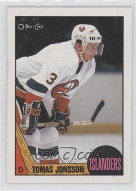 1987-88 O-Pee-Chee - [Base] #190 - Tomas Jonsson