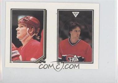 1987-88 O-Pee-Chee Album Stickers #185 - Patrick Roy, Carey Wilson
