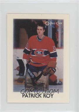 1987-88 O-Pee-Chee Leaders Mini - [Base] #36 - Patrick Roy