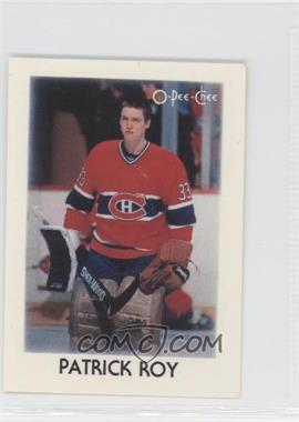 1987-88 O-Pee-Chee Leaders Mini #36 - Patrick Roy