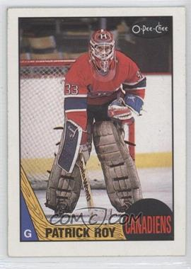 1987-88 O-Pee-Chee #163 - Patrick Roy