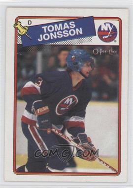 1988-89 O-Pee-Chee - [Base] #108 - Tomas Jonsson
