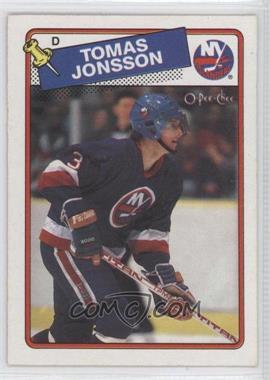 1988-89 O-Pee-Chee #108 - Tomas Jonsson