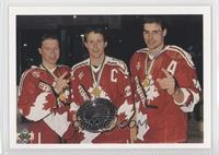 Kris Draper, Stephane Richer, Eric Lindros
