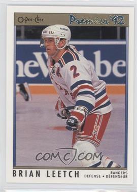 1991-92 O-Pee-Chee Premier #57 - Brian Leetch