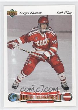 1991-92 Upper Deck Czech World Junior Tournament #20 - Sergei Zholtok