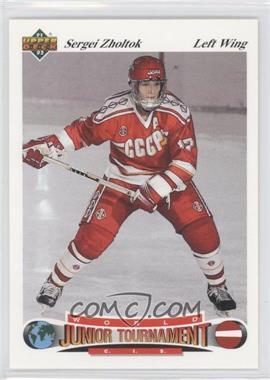 1991-92 Upper Deck Czech World Junior Tournament #20 - Sergei Zholtok