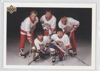 Vladimir Malakhov, Brett Hull, Wayne Gretzky, Valeri Kamensky