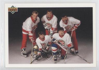 1991-92 Upper Deck #SP1 - Vladimir Malakhov, Brett Hull, Wayne Gretzky, Valeri Kamensky