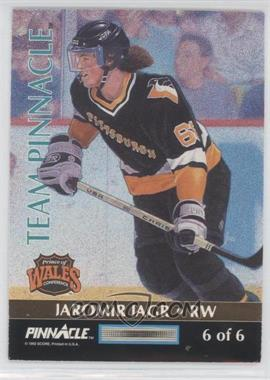 1992-93 Pinnacle Team Pinnacle #6 - Jaromir Jagr, Brett Hull