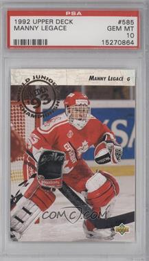 1992-93 Upper Deck #585 - Manny Legace [PSA10]