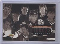 Future Heroes Checklist (Felix Potvin, Pat Falloon, Pavel Bure, Eric Lindros, T…
