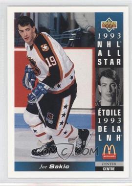 1993-94 Upper Deck McDonald's #McD-24 - Joe Sakic