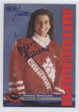 1994-95 Classic Autographs #N/A - Manon Rheaume /2280