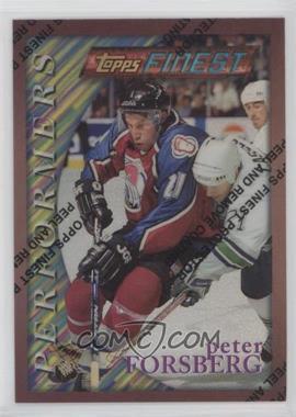 1995-96 Topps Finest - [Base] - Refractor #26 - Peter Forsberg