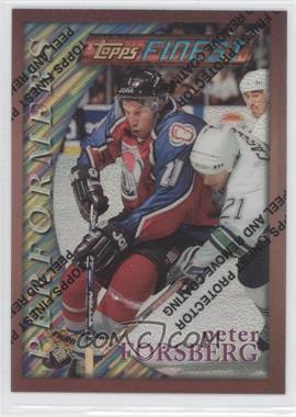 1995-96 Topps Finest Refractor #26 - Peter Forsberg