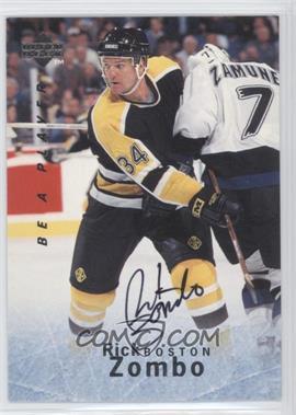 1995-96 Upper Deck Be a Player - [Base] - Autographs [Autographed] #S136 - Rick Zombo