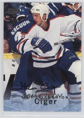 1995-96 Upper Deck Be a Player - [Base] - Autographs [Autographed] #S137 - Zdeno Ciger