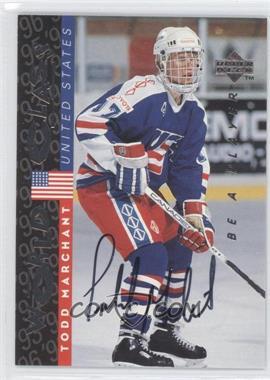 1995-96 Upper Deck Be a Player - [Base] - Autographs [Autographed] #S190 - Todd Marchant