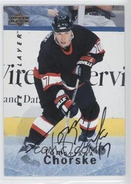 1995-96 Upper Deck Be a Player - [Base] - Autographs [Autographed] #S43 - Tom Chorske