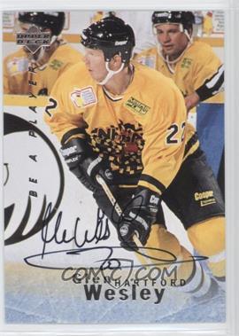 1995-96 Upper Deck Be a Player Autographs [Autographed] #S116 - Glen Wesley