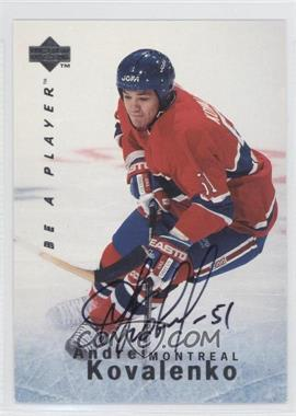 1995-96 Upper Deck Be a Player Autographs [Autographed] #S118 - Andrei Kovalenko