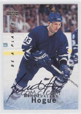 1995-96 Upper Deck Be a Player Autographs [Autographed] #S126 - Benoit Hogue