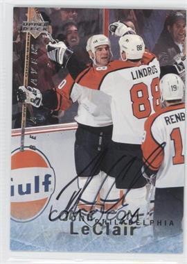 1995-96 Upper Deck Be a Player Autographs [Autographed] #S130 - John LeClair
