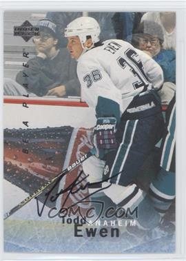 1995-96 Upper Deck Be a Player Autographs [Autographed] #S155 - Todd Ewen