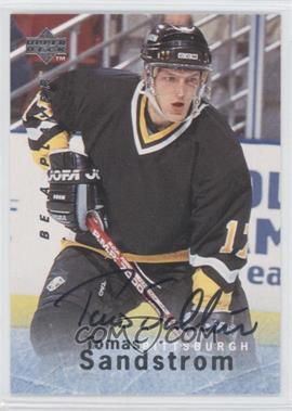 1995-96 Upper Deck Be a Player Autographs [Autographed] #S160 - Tomas Sandstrom