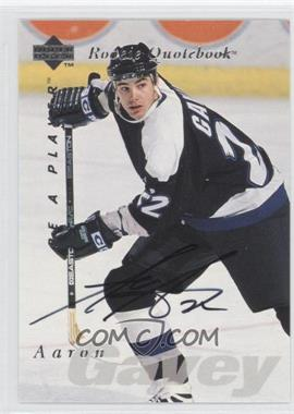1995-96 Upper Deck Be a Player Autographs [Autographed] #S165 - Aaron Gavey