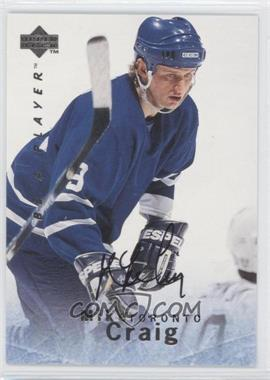 1995-96 Upper Deck Be a Player Autographs [Autographed] #S17 - Mike Craig