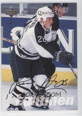 1995-96 Upper Deck Be a Player Autographs [Autographed] #S175 - Jere Lehtinen