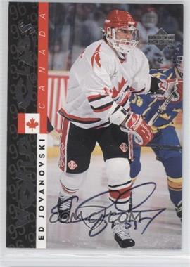 1995-96 Upper Deck Be a Player Autographs [Autographed] #S178 - Ed Jovanovski