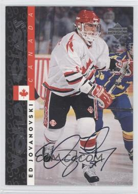 1995-96 Upper Deck Be a Player Autographs [Autographed] #S178 - Ed Jovanovski