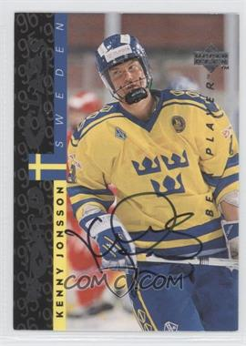 1995-96 Upper Deck Be a Player Autographs [Autographed] #S180 - Kenny Jonsson