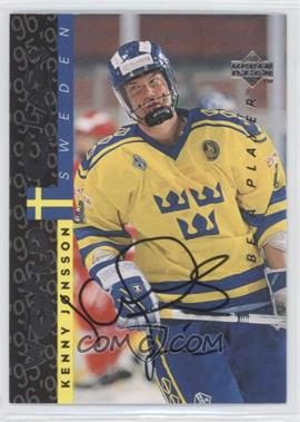 1995-96 Upper Deck Be a Player Autographs [Autographed] #S180 - Kenny Jonsson