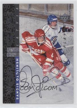 1995-96 Upper Deck Be a Player Autographs [Autographed] #S183 - Sandis Ozolinsh