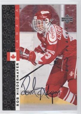 1995-96 Upper Deck Be a Player Autographs [Autographed] #S184 - Rob Niedermayer