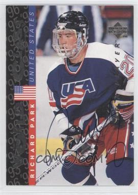 1995-96 Upper Deck Be a Player Autographs [Autographed] #S185 - Richard Park
