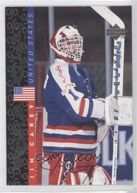 1995-96 Upper Deck Be a Player Autographs [Autographed] #S189 - Jim Carey